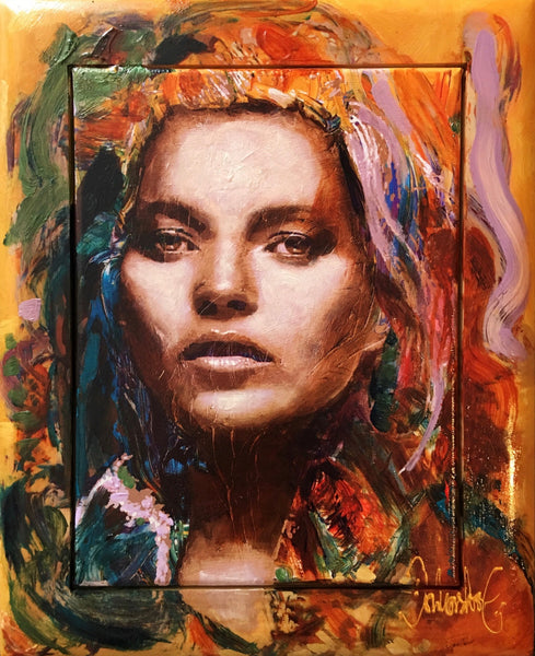 Kate Moss | painting by Peter Donkersloot