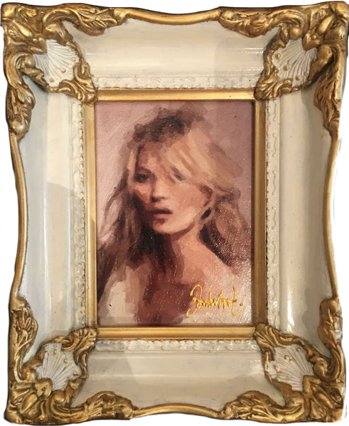 Kate Moss by Donkersloot painting baroque frame