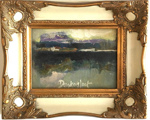 Landscape in white frame