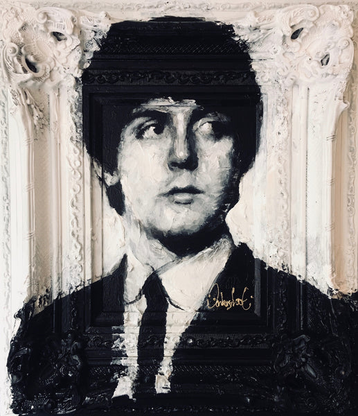 Paul McCartney , The Beatles schilderij door Peter Donkersloot