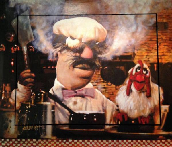 Swedish chef The muppet show painting small dark ditch