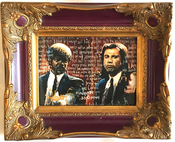 Pulp Fiction in burgundy frame