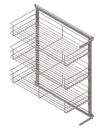 Side mounted- 3 baskets pullout