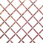 "Decorative wire mesh. Cross pattern with 3/4"" wide opening in antique copper finish (orange base colour with dark dusting to appear antique)."