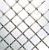 "Decorative wire mesh. Cross pattern with 3/4"" wide opening in antique iron finish (grey colour)."