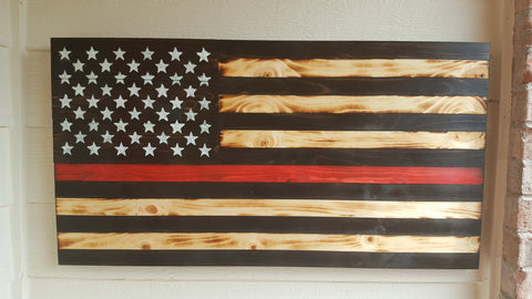 THIN RED LINE SERVICE FLAG