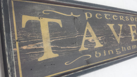 Peterson's Tavern Sign