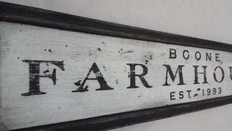 Boone Farmhouse Sign
