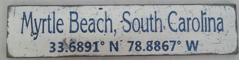 South Carolina Coordinate sign