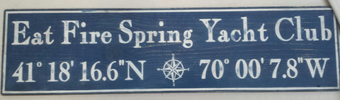 Yacht Club Wood sign