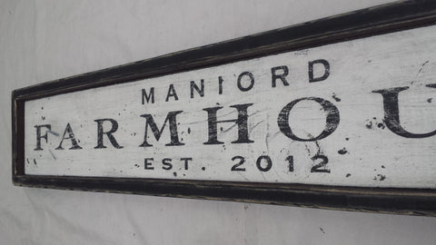 Maniord Farmhouse Sign