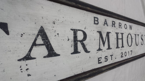 Barrow Farmhouse sign