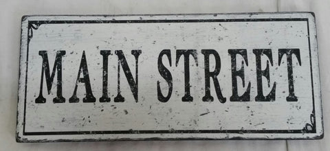 Sign with Main Street