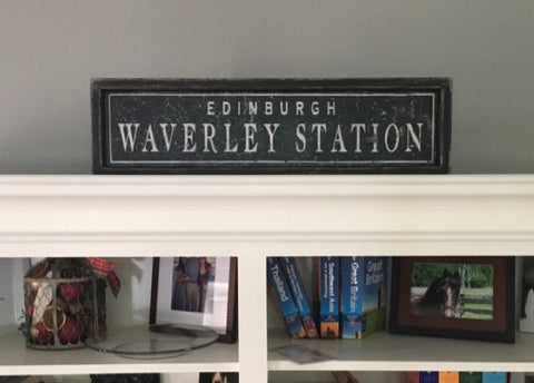 Customer's Railway Station Sign