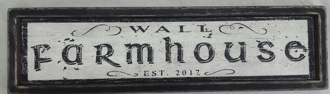 Example of a distressed Farmhouse sign
