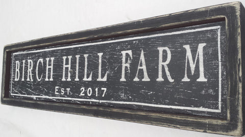 Birch Hill Farm Sign