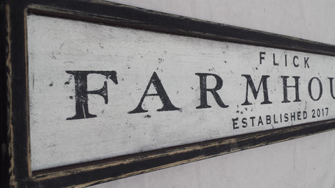 Flick's Farm sign example