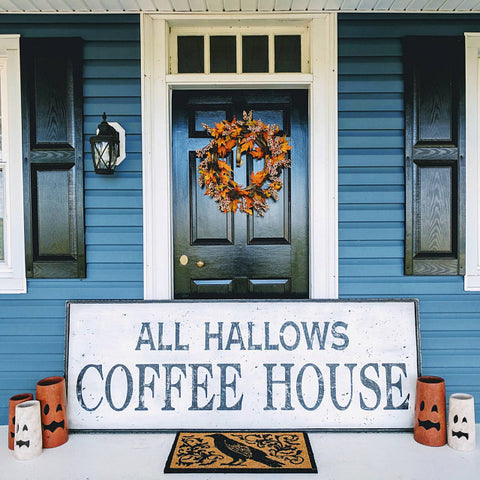 All Hallows Coffee House Sign