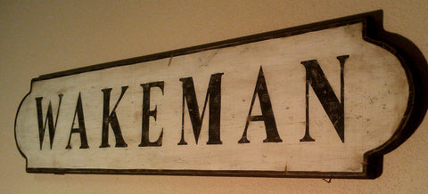 Wakeman Train Sign