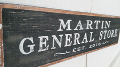 Martin General Store Sign close up