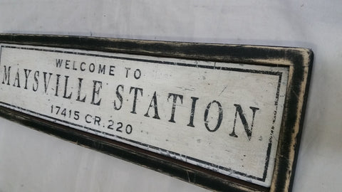 Maysville Station sign