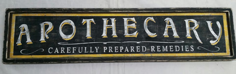 Framed Apothecary antique style sign