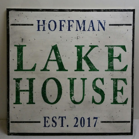 Large Lake House sign