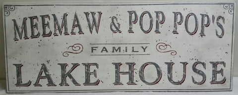 Large Meemaw and Pop Pops sign