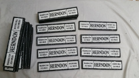 Collection of Herndon Train Signs