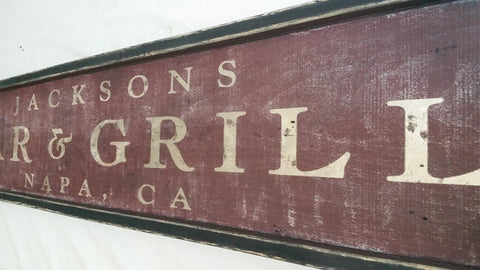 Bar & Grill Napa Ca sign
