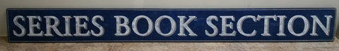 large Series Book Section Sign