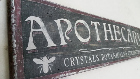 Apothecary sign with Bee