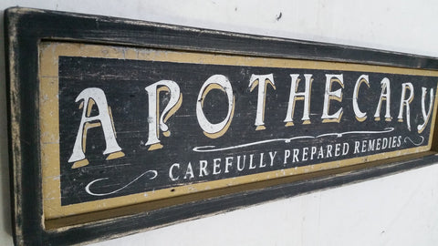 Framed Apothecary Sign