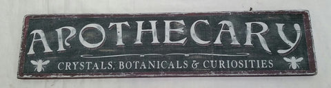 Apothecary Botanical Sign