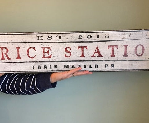 Trice Train Station Sign