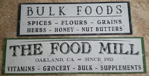 Food Mill Sign