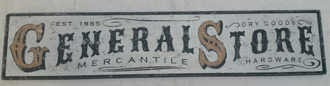general store 1885 sign