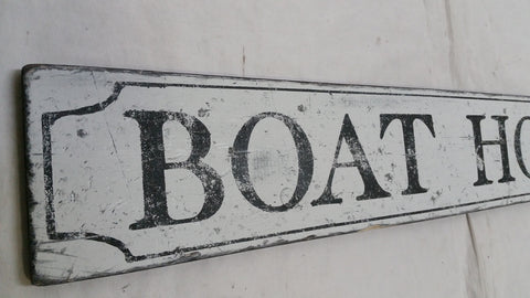 Closeup of Boathouse sign