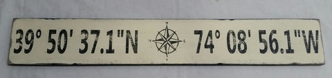 Antique White Coordinate sign