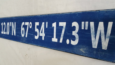Navy Blue Coordinate Sign
