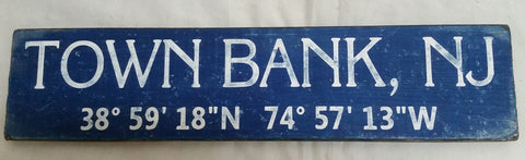 Town Bank Coordinate Sign