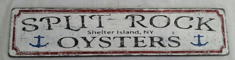 Split Rock Oysters Sign