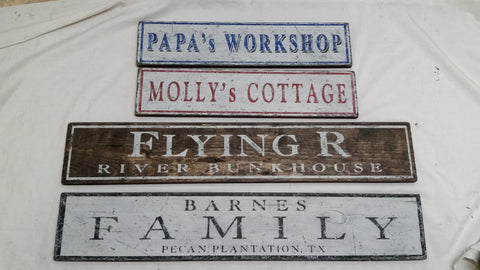Collection of Cottage signs