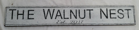 Walnut nest sign