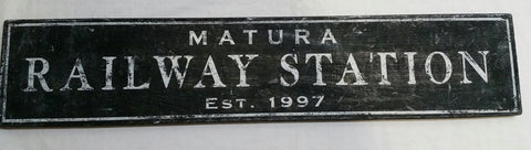 Matura Railway Station Sign