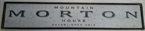 Mountain House Sign