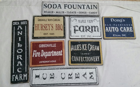 Antique Sign Collection