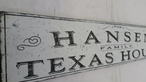 Closeup of Texas House sign