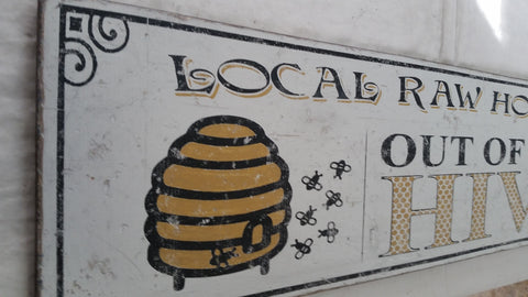 Local Raw Honey sign