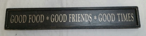 good friends food sign